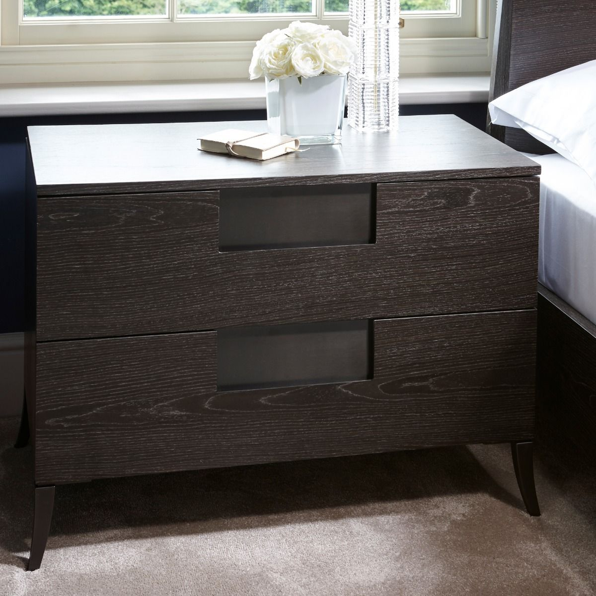 best sneakers 84558 9136d Wide Two Drawer Bedside Chest