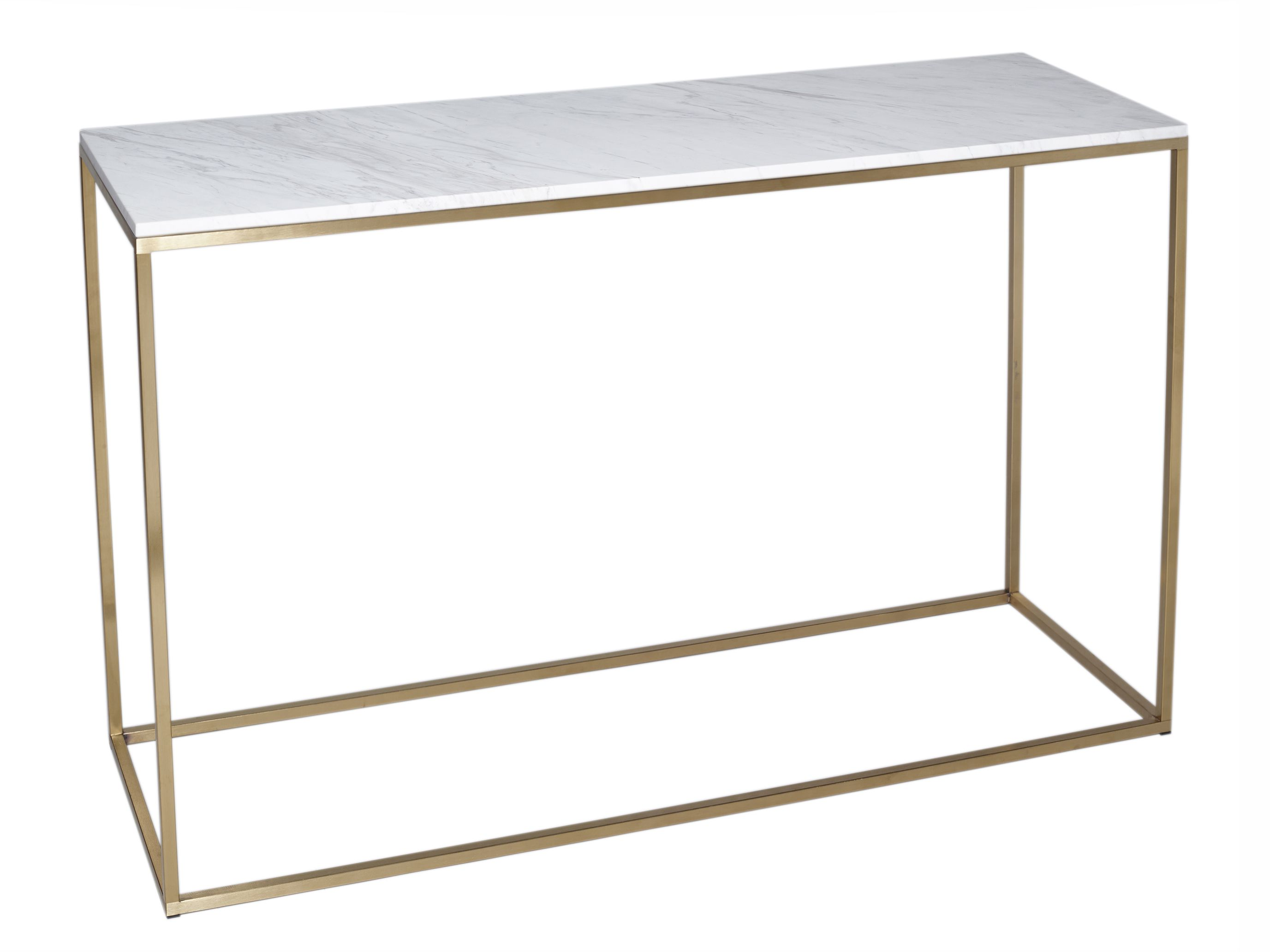 Console table kensal marble with brass base by gillmore space