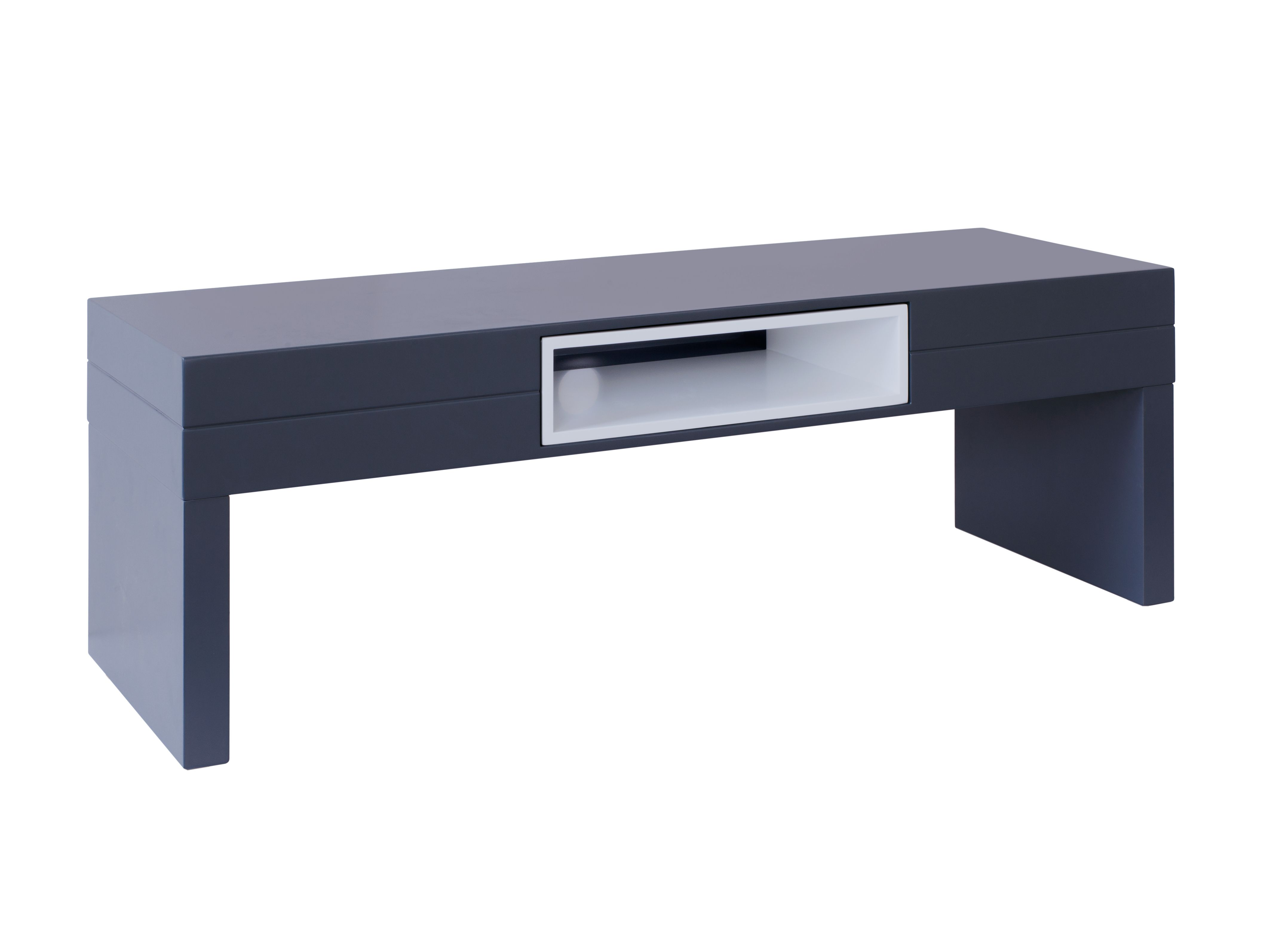 Low Tv Table Savoye Graphite With White Accent Collection From