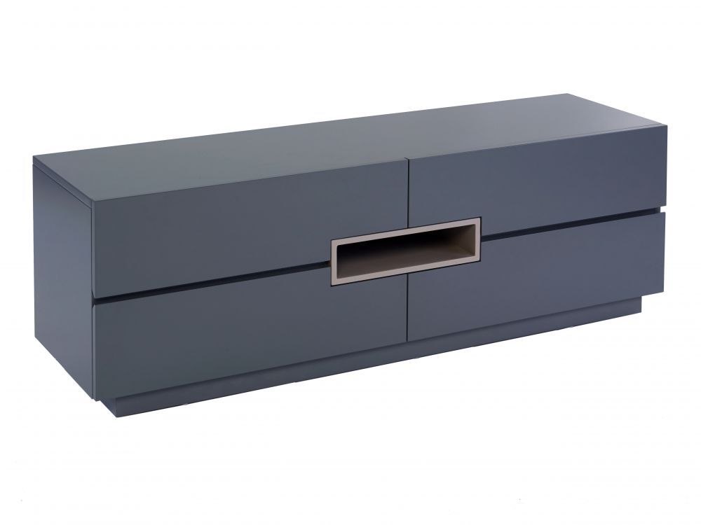 Low TV sideboard - Savoye GRAPHITE with STONE  accent