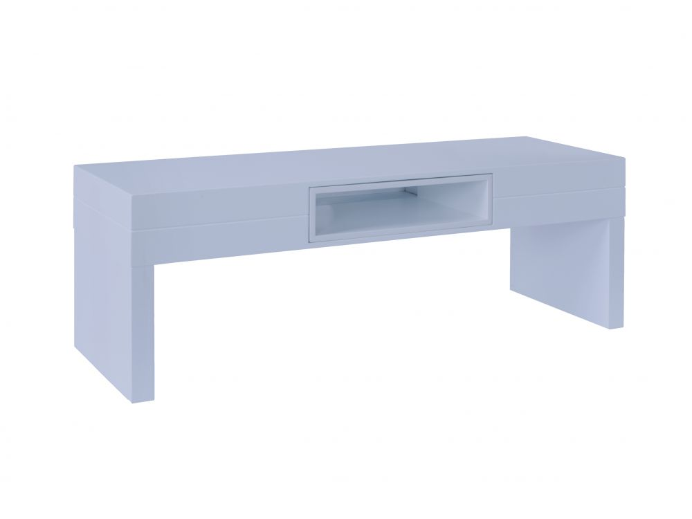 Low TV Table - Savoye WHITE with WHITE accent