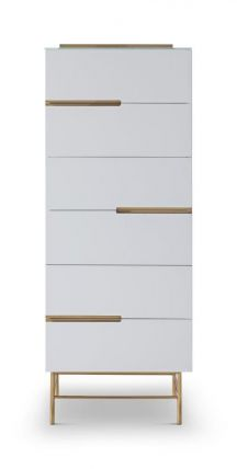 Six Drawer Tall Narrow Chest