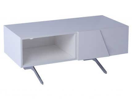 Low small TV sideboard part open - Glacier