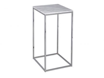 Square Lamp Stand - Kensal MARBLE with POLISHED base
