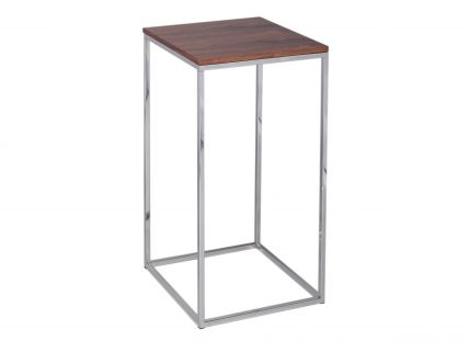 Square Lamp Stand - Kensal WALNUT with POLISHED base