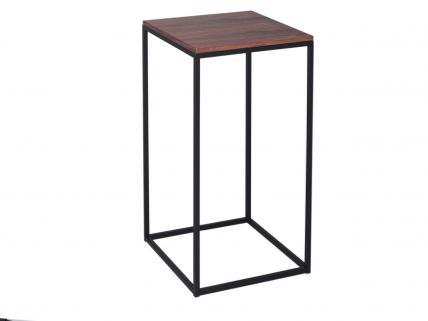 Square Lamp Stand - Kensal WALNUT with BLACK base