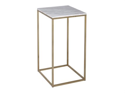 Square Lamp Stand - Kensal MARBLE with BRASS base