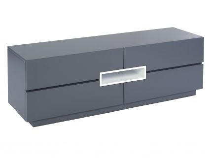 Low TV sideboard - Savoye GRAPHITE with WHITE accent