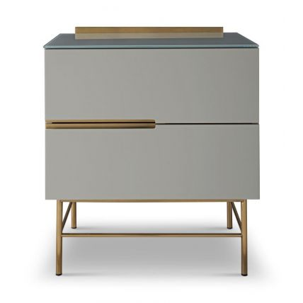 Two Drawer Narrow Chest by Gillmore