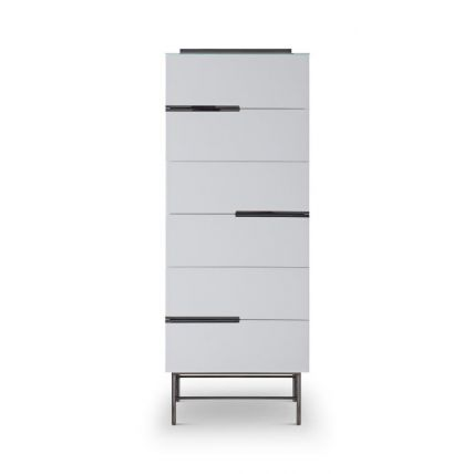 Six Drawer Tall Narrow Chest by Gillmore