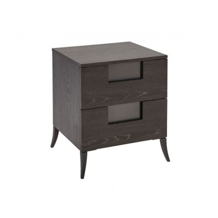 Narrow Two Drawer Bedside Chest  by Gillmore