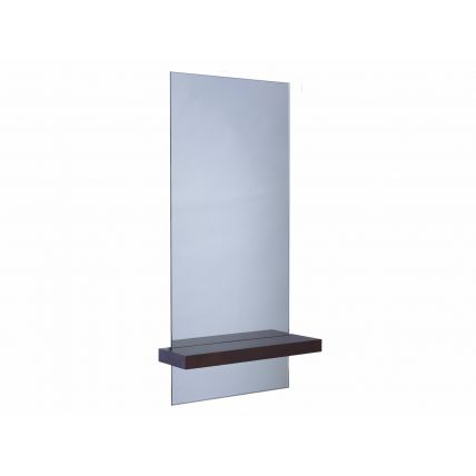 Portrait mirror with shelf - Gerrit walnut by Gillmore Space