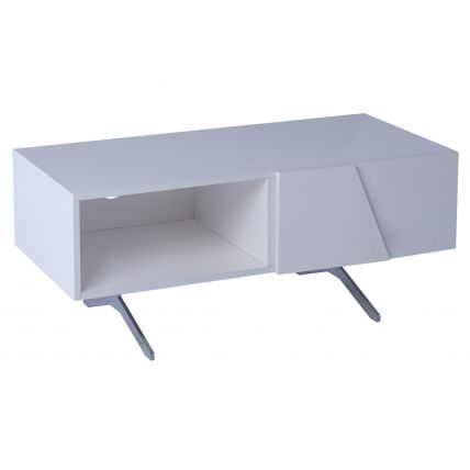 Low small TV sideboard part open - Glacier         by Gillmore Space