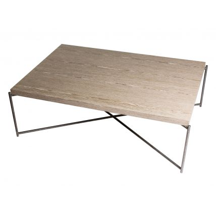 Rectangle coffee table WEATHERED OAK with GUN METAL FRAME  by Gillmore Space