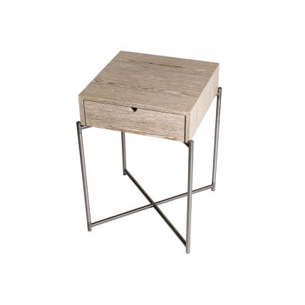 Small Square Side Table With Drawer  by Gillmore