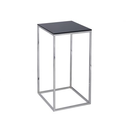 Square Lamp Stand - Kensal BLACK with POLISHED base by Gillmore
