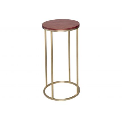 Circular Lamp Stand - Kensal WALNUT with BRASS base by Gillmore Space