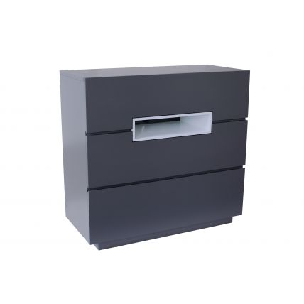 Three drawer chest - Savoye GRAPHITE with WHITE accent by Gillmore Space