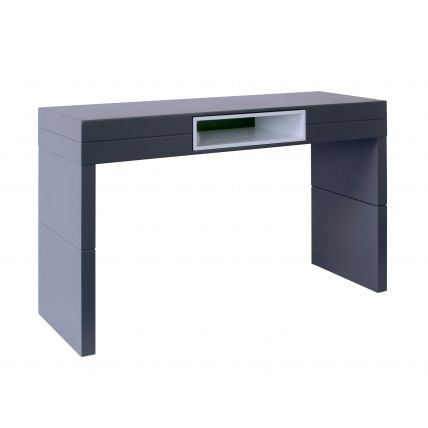 High Console table - Savoye GRAPHITE with WHITE accent by Gillmore