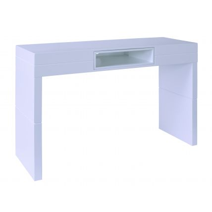 High Console table - Savoye WHITE with WHITE accent by Gillmore Space