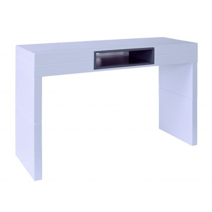 High Console table - Savoye WHITE with GRAPHITE accent by Gillmore Space