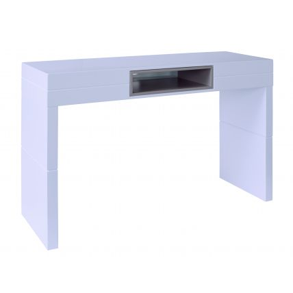 High Console table - Savoye WHITE with STONE  accent by Gillmore Space