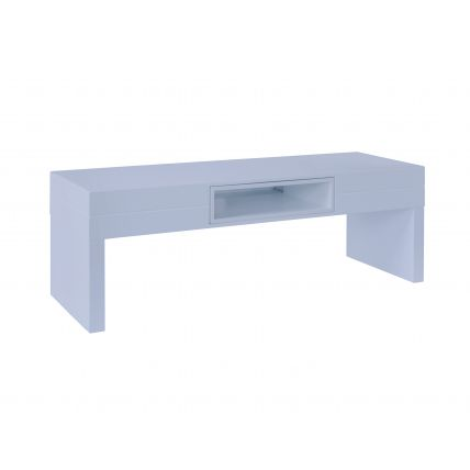 Low TV Table - Savoye WHITE with WHITE accent by Gillmore Space