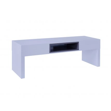 Low TV Table - Savoye WHITE with GRAPHITE accent by Gillmore Space