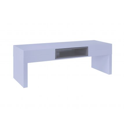 Low TV Table - Savoye WHITE with STONE  accent by Gillmore Space
