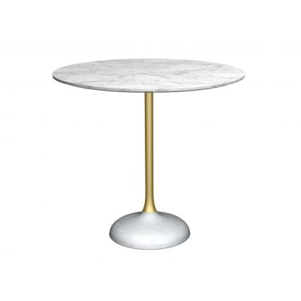 Circular dining table by Gillmore