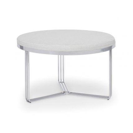 Small Circular Coffee Table or Footstool