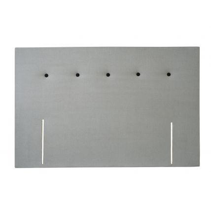 King divan headboard - Essentials STONE fabric