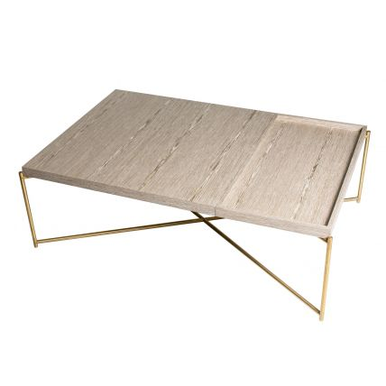Rectangular Coffee Table With Tray Top