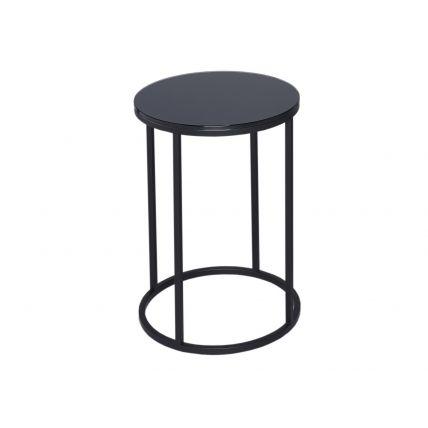 Circular Side Table - Kensal BLACK with BLACK base