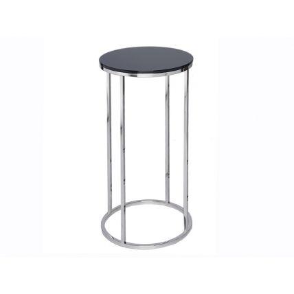 Circular Lamp Stand - Kensal BLACK with POLISHED base