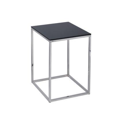 Square Side Table - Kensal BLACK with POLISHED base