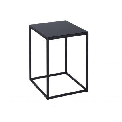 Square Side Table - Kensal BLACK with BLACK base