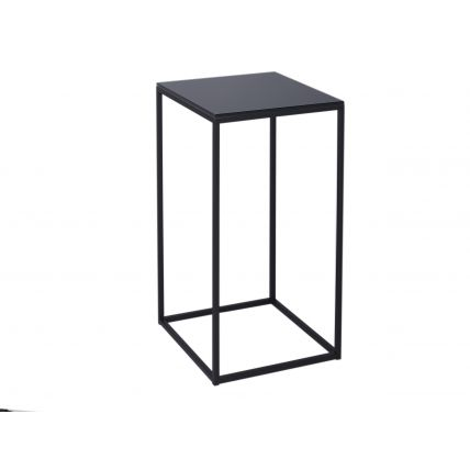 Square Lamp Stand - Kensal BLACK with BLACK base