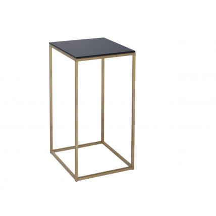 Square Lamp Stand - Kensal BLACK with BRASS base