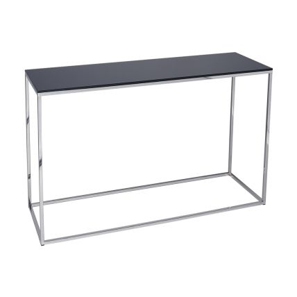 Console Table - Kensal BLACK with POLISHED base
