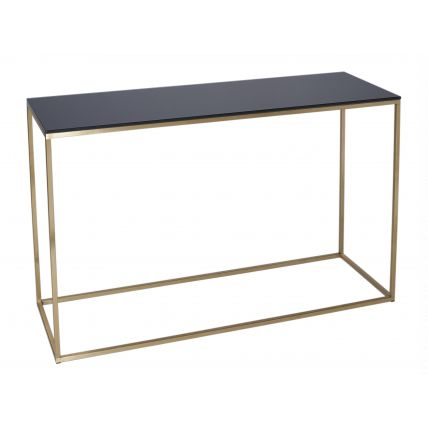 Console Table - Kensal BLACK with BRASS base