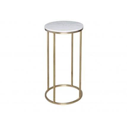Circular Lamp Stand - Kensal MARBLE with BRASS base