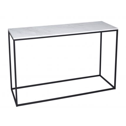 Console Table - Kensal MARBLE with BLACK base