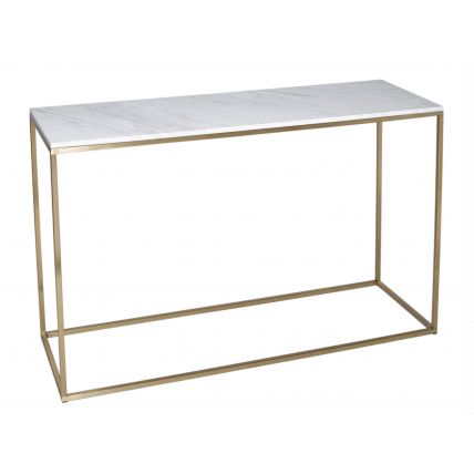 Console Table - Kensal MARBLE with BRASS base