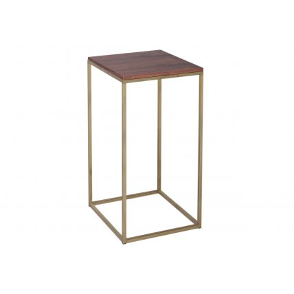Square Lamp Stand - Kensal WALNUT with BRASS base
