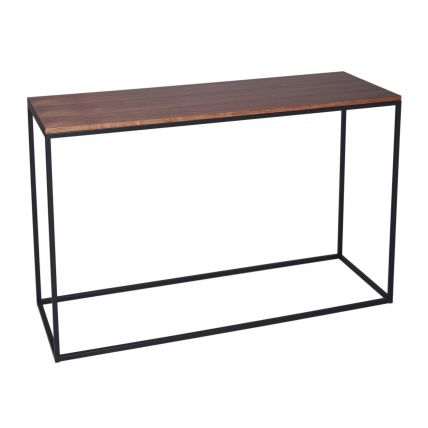 Console Table - Kensal WALNUT with BLACK base
