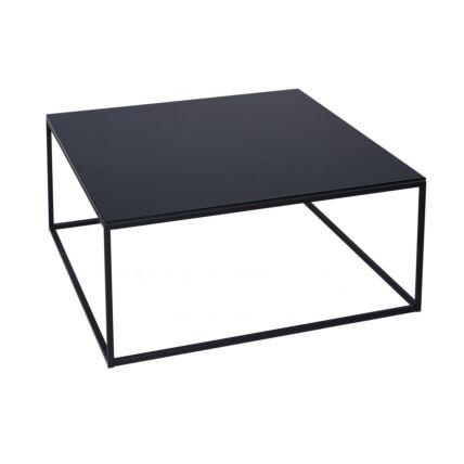 Kensal Square Coffee Tables - Black Glass & Black Frame © GillmoreSPACE Ltd