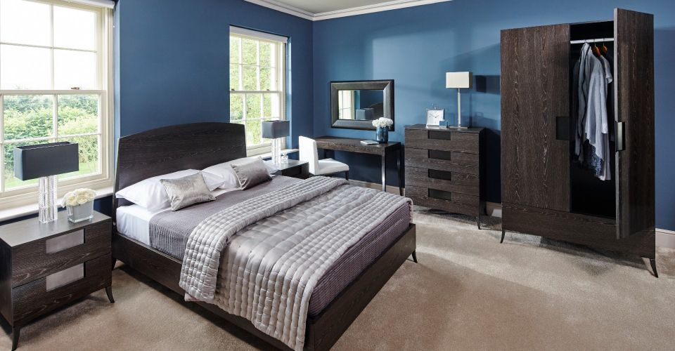 Fitzroy Charcoal Stained Oak Veneer King Bed by Gillmore © GillmoreSPACE Ltd