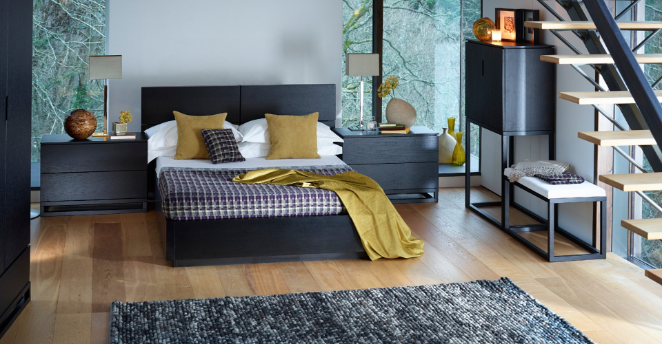 Cordoba King Bed With Twin Large Bedside Chests © GillmoreSPACE Ltd