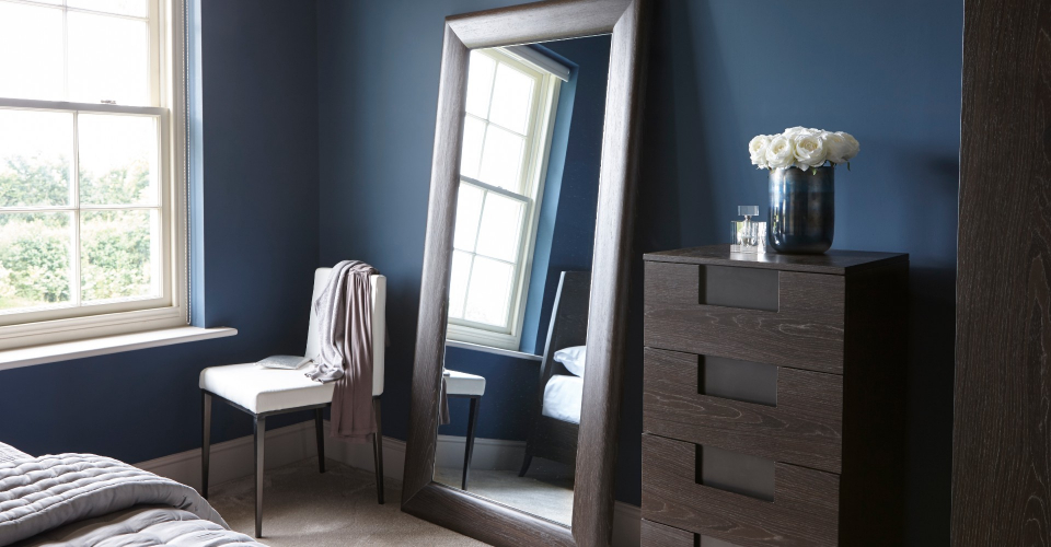 Fitzroy Full Size Portrait Wall Leaning Mirror by Gillmore © GillmoreSPACE Ltd